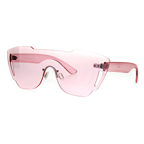 Oversize Shield Robotic Futurism Cyber Punk Plastic Sunglasses - Glasses Cyber
