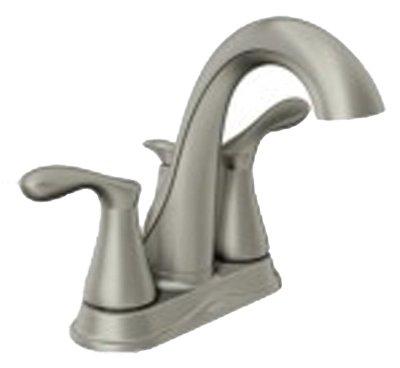 Moen WS84944SRN Two-Handle Low Arc Bathroom Faucet, Spot Resist Brushed Nickel 30%OFF