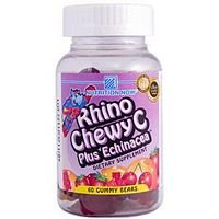 Nutrition Now Rhino Chewy C Plus Echinacea Gummy Bear Chew - 60 per pack -- 6
