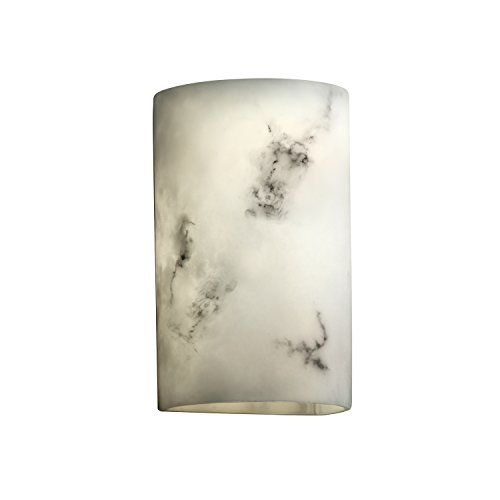 Justice Design Group LumenAria 2-Light Wall Sconce - Faux Alabaster Resin - Alabaster Faux