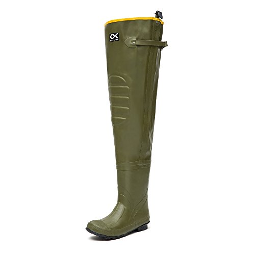 DUCK&FISH Duck and Fish Rubber 2 ply Hip Wader Boots (9 US)