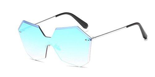 Glacier lunettes retro de Lennon cercle vintage rond style Bleu soleil métallique polarisées inspirées en du x6aYxw