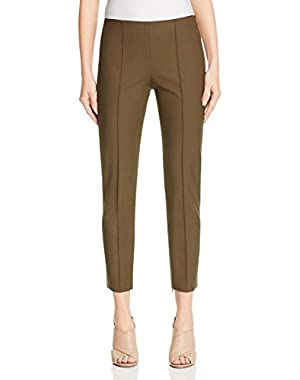 Womens Alettah Twill Center Seam Ankle Pants