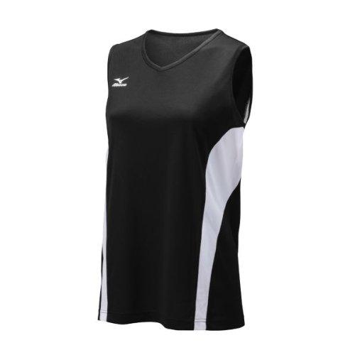 Mizuno Women's Performance Sleeveless G3 Jersey, Black/White, Medium Mizuno Stretch Jersey