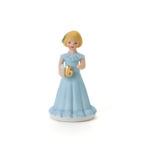 "Enesco Growing Up Girls ""Blonde Age 6"" Porcelain Figurine, 4"""