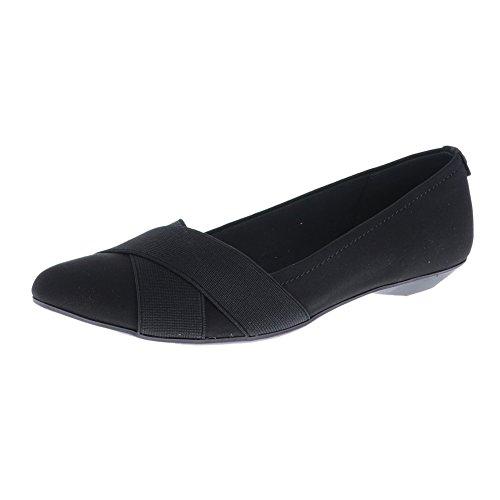 Anne Klein Sport Oalise Black/Black Fb Womens Ballet Flat Size 6M