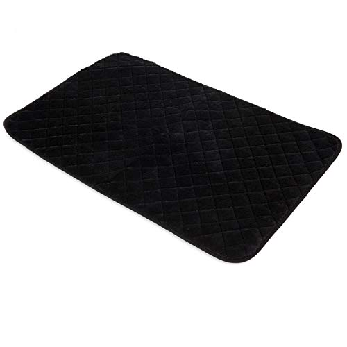 (SNOOZZY BLACK 41X26 QUILTED MAT)