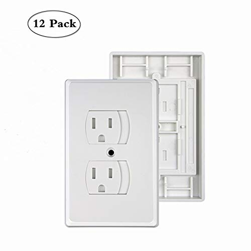 Baby Safety Electrical Outlet Cover – Self-Closing Outlet Covers Babyproofing Covers for Baby, Toddler and Children Safety BPA-Free (12 Pack)