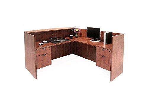Regency L-shaped Desk - Laminate L Shaped Receptionist Desk Dimensions: 71