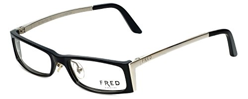 Fred Eyeglasses Frames - Fred Lunettes Designer Eyeglasses St. Moritz-C3-003 in Black 50mm DEMO LENS