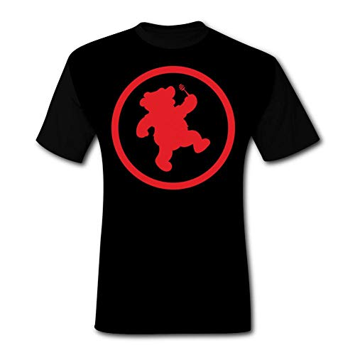 ETJIJCKDI Mens Juggalo Pooh in Red Tshirt Short Sleeve Tee Shirts XL