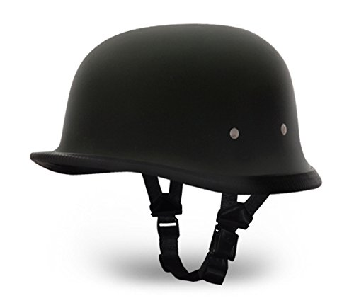 "Daytona Helmets ""Leading The Way In Quality Headgear"" German- Dull Black"