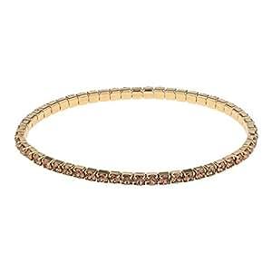 Oliver Weber Women's Rhodium Armband Dance Gold Smokey Quartz Bracelet