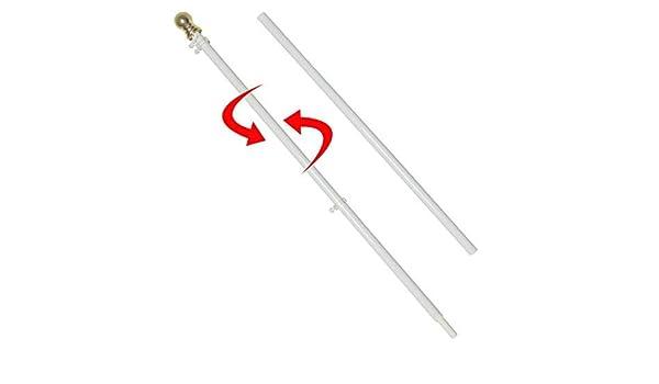 Bandera poste, libre de enredos Spinning 6 ft aluminio poste de ...
