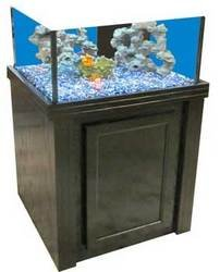 R&J Enterprises ARJ00588 Oak Wood Aquarium Cabinet Stand for Deep Blue Cube Tank, 24 by 24-Inch, Black by R&J Enterprises