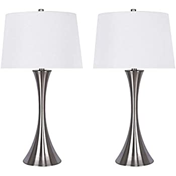 Grandview Gallery 29 5 Quot Brushed Nickel Metal Table Lamp