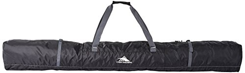 High Sierra Single Ski Bag - Medium, Black/Mercury (Black Ski Bag)