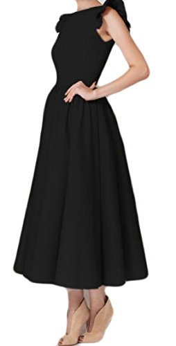 Women Color Party Sleeveless Dress Pure Coolred Bodycon Black Business Ruffled UwEdIq1