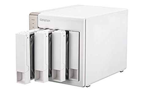 QNAP TS-451 (20TB) 4-Bay Personal Cloud NAS, Intel 2.41GHz Dual Core CPU with Media Transcoding with HDMI output, DLNA, AirPlay and PLEX Support (Build-in 4x 5TB HDD) - Retail w/3 Year (Qnap Ts 451 Us)