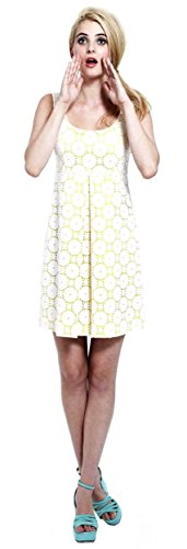 francis-christian-francis-roth-womens-eyelet-dress-sz-4-white-yellow-120740f