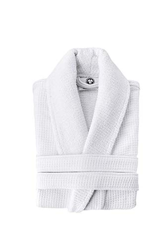 Grund Ocean Isle 100% Organic Turkish Cotton, Luxury Spa, Large, White, Bath Robe