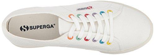 Superga Womens 2790 Coloreycotw Fashion Sneaker White/Multi ka4oPEZ