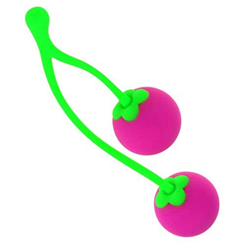Finever Premium Charming Cherries Medical Silicone Kegel Ball Exercisers for Women ()