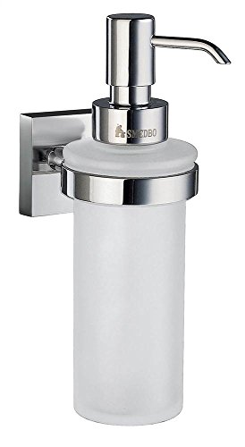 (SMEDBO House Frosted Glass Soap Dispenser w Polished Chrome Hardware)