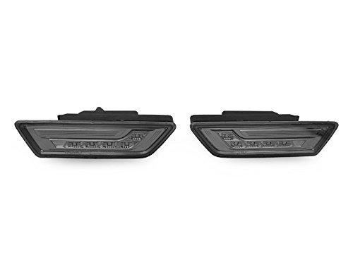 (DEPO 2012-2014 Mercedes W218 CLS 550 Class White LED Smoke Side Marker Light Set)