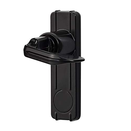 Ideal Security ISB1AC ISB1 Handle Set for in- for in-Swinging Storm and Screen Doors, Black (Swing Door Handle)