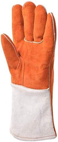 AMAZACER 手袋電気溶接手袋絶縁抗火傷手袋工業用手袋耐熱手袋は、バーベキュー手袋を肥厚保護手袋/ソフトレザー(サイズ:L) (Size : L)