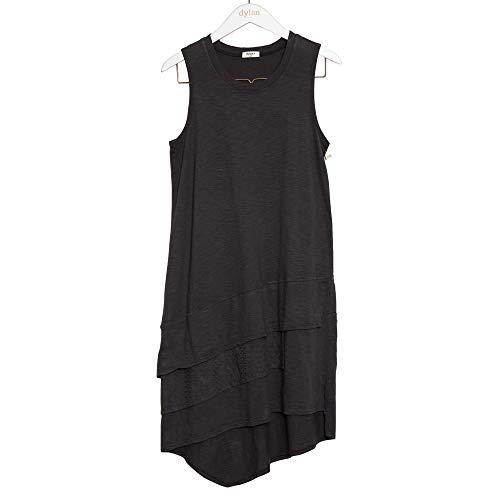 3 Dress Tier - Dylan by True Grit Women's Cotton Slub 3 Tiers Tank Dresses (Black,S)