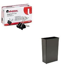 KITSAF9618BLUNV10200 - Value Kit - Safco Fire-Safe Wastebasket (SAF9618BL) and Universal Small Binder Clips (UNV10200)