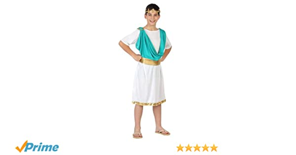 Atosa-23345 Disfraz Romano, Color celeste, 5 a 6 años (23345 ...