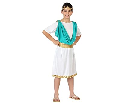 Atosa-23344 Disfraz Romano, color celeste, 3 a 4 años (23344)