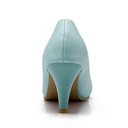 Femmes Cone Escarpins Talons Zanpa Bleu Elegant zaS46q0awF