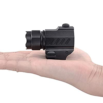 TrustFire G01 Pistol Light, Tactical Flashlight 210 Lumen Quick Release Mount for Picatinny or Glock Style Rails