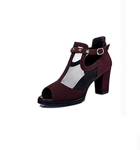 Chaussures Talons Sandales Plates Avec Sandales couleur Hauts Femmes D'été De Mode Des A Sandales Taille Korean Sauvages B Sandales Chaussures 38 Romaines À De dqWnEFW