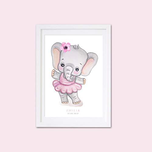 Elefant Bilder Ballerina Plakat Ballett Poster Kinderzimmer Poster ...