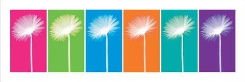 Daisies Pop Art Decorative Floral Photography Poster Print 12X36