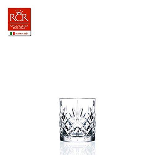 RCR Crystal Melodia Whiskygläser, Kristallglas, 310°ml, 6Stück Lieferung in Geschenkverpackung