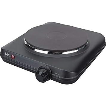 Jata CE150 Cocina eléctrica con 1 placa calorífica, 1500 W, 0 Decibelios, Metal, Negro