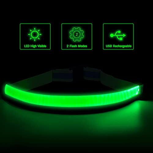 esonstyle LED Reflective Belt USB Rechargeable Running Gear,High Visibility Light Up Waist Belt for Men/Women/Kids Walking, Cycling,Camping Night Satety Outdoor Sports