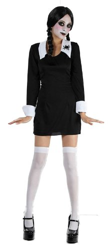 Scary Daughter Fancy Dress Costume (Black/White) (Wednesday Addams Outfit)