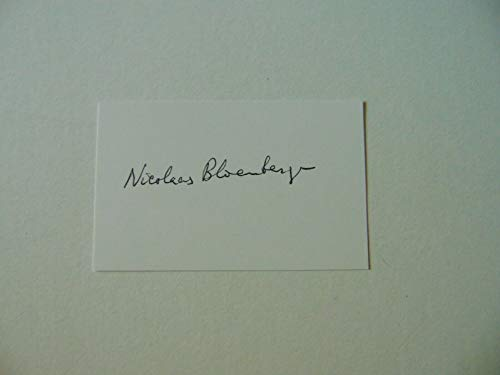 """Nobel Prize in Physics"" Nicolaas Bloembergen Signed 2X3.25 Card JG Autographs from Unknown"
