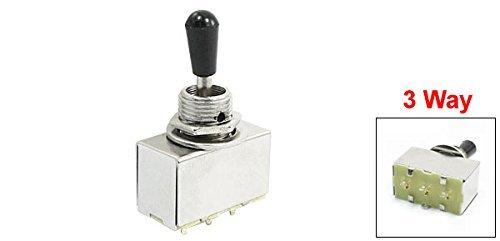 Caja de Cromo Negro Perilla interruptor DE 3 vías de palanca cerrada Para la guitarra eléctrica: Amazon.com: Industrial & Scientific