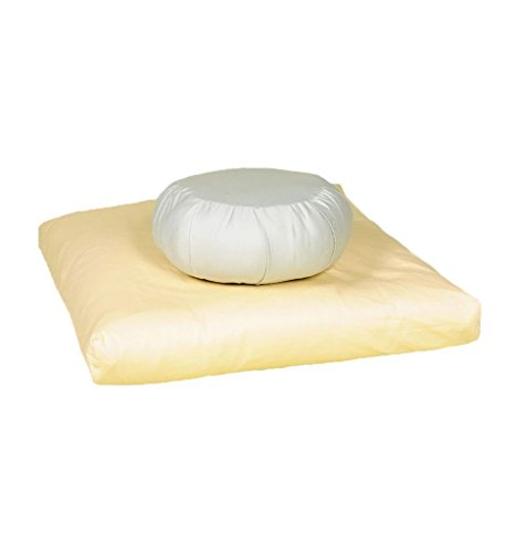White Lotus Home KZMP02 Kapok Zafu Meditation Pillow with Organic Cotton Sateen Sheeting Outer Case (11x7),Natural,11x7 by White Lotus Home
