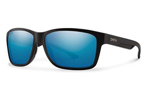 Smith Drake ChromaPop+ Polarized Sunglasses, Matte Black, Blue Mirror - Glasses With Drake