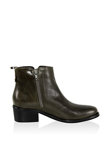Boot Ankle Liso Senhoras 4105418 Gianni jamaica Couro Gregori moss 51qn8RE