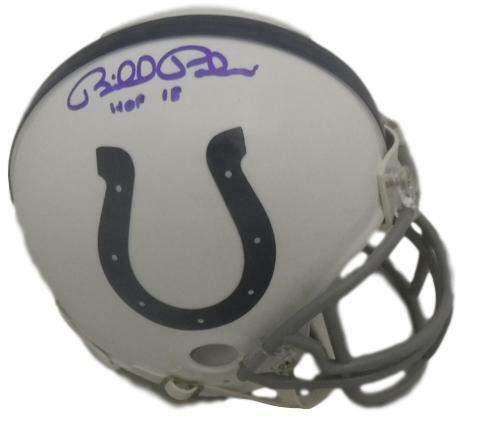 Bill Polian Autographed Indianapolis Colts Riddell Mini Helmet HOF -